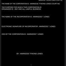 MARKEESE TYWOND JONES COURT INC