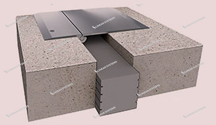 Foam Expansion Joint with Cover Plate