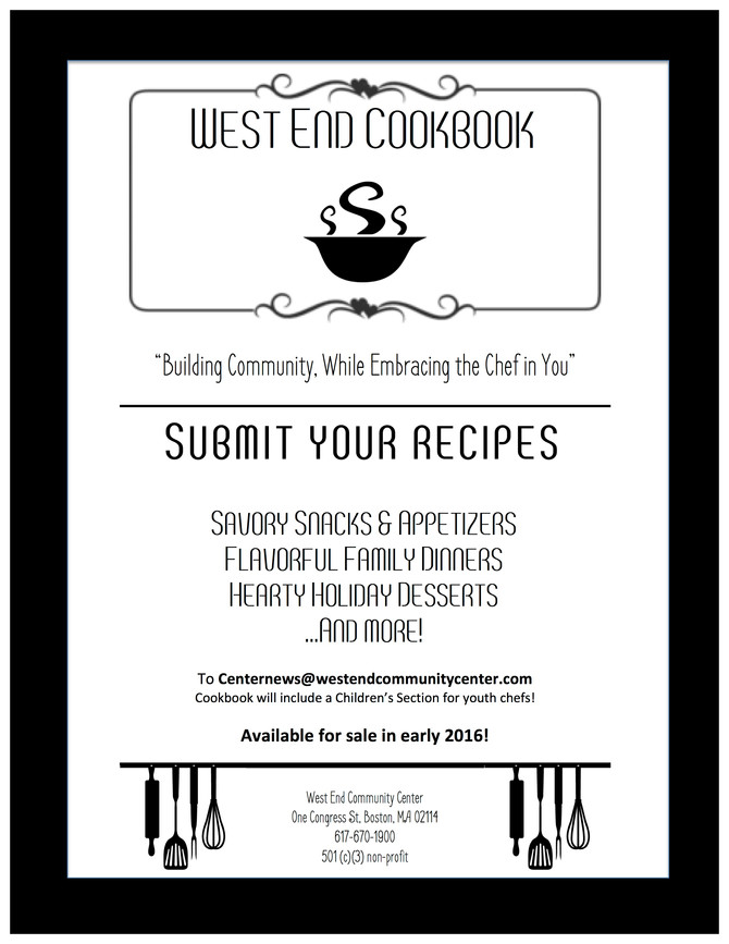 Submit Your Recipes for the West End Cookbook