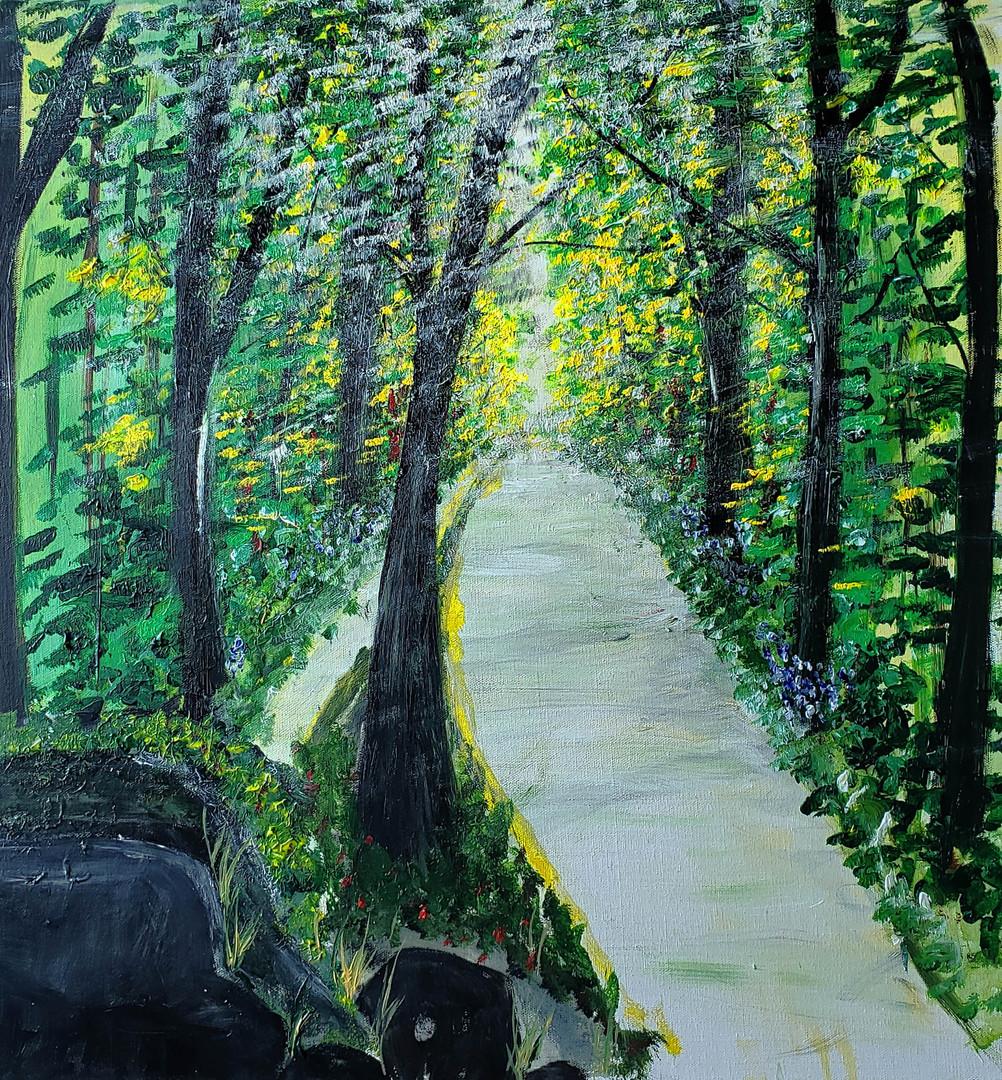 A quiet path in the garden