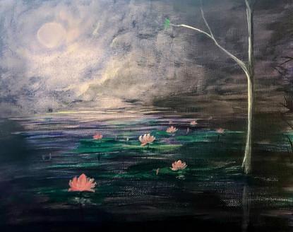 Night Lotus pond