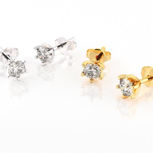 Brincos - Ponto de diamante