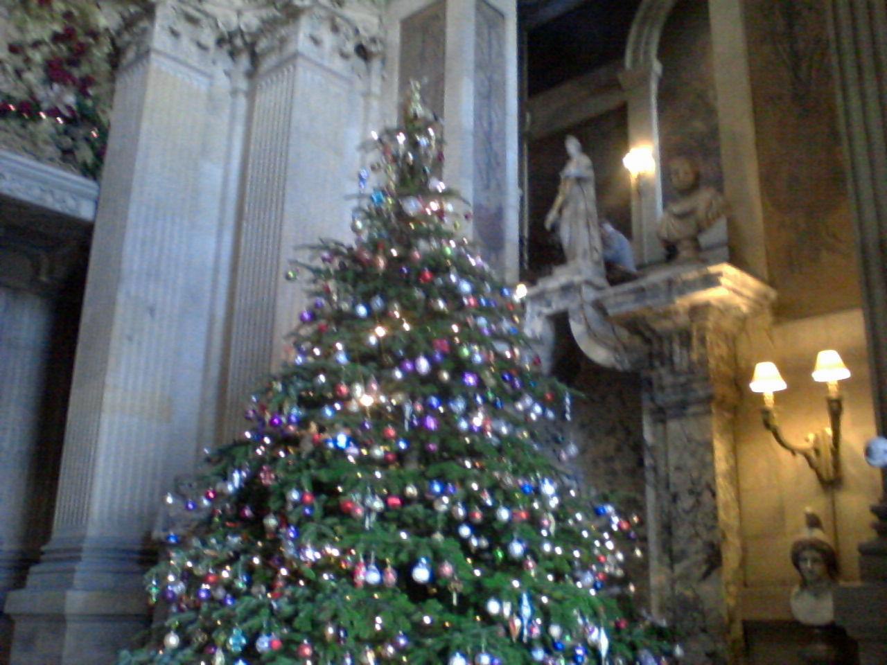 Christmas tree at Castle Howard