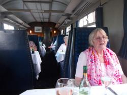 Inside the Pullman train