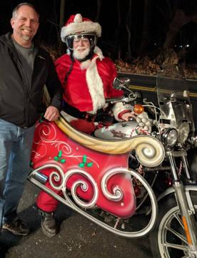 Santa Rides Warm