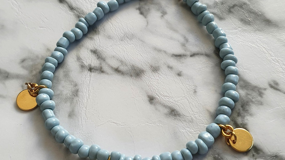 Blue pastel bracelet