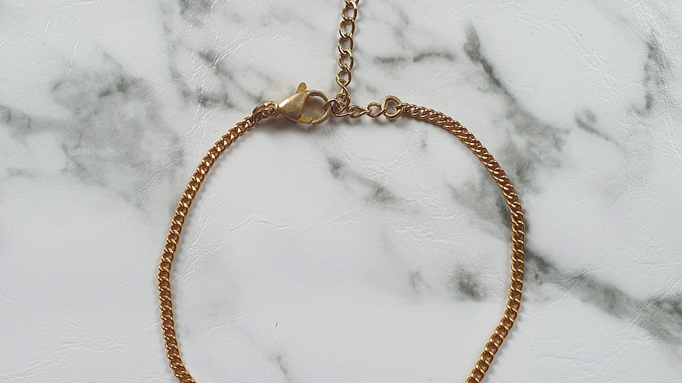Platte schakelarmband