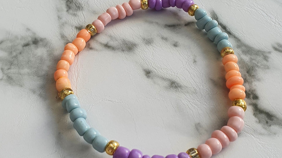 Pastel color beads