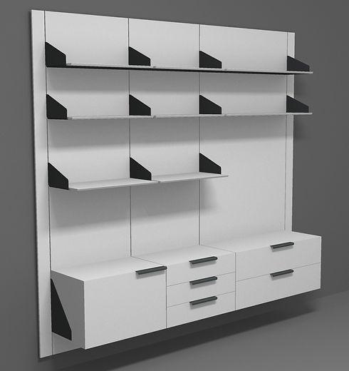 A mi-modular scheme with three wall panels