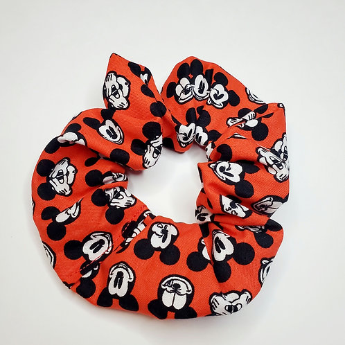 Mickey Mouse Hair Scrunchie Red