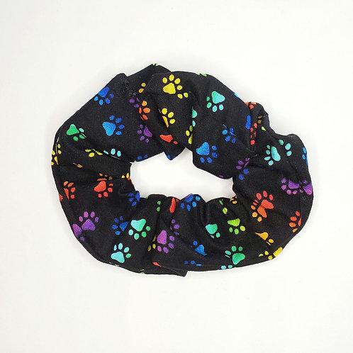 Rainbow Pet Paws Hair Scrunchie
