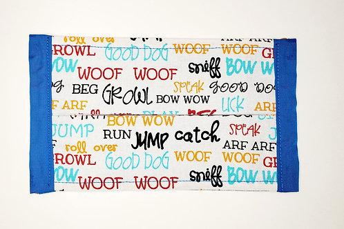Dog Words Face Mask