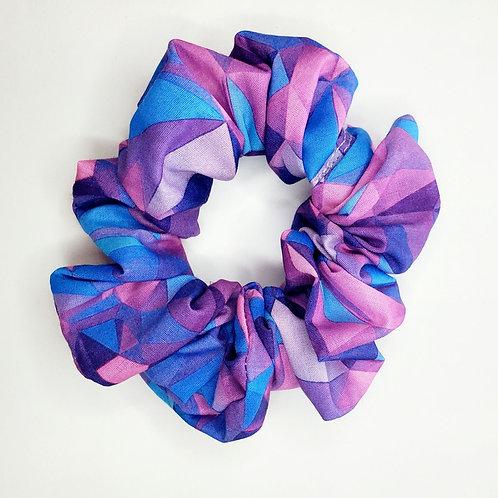 Purple And Blue Scrunchie