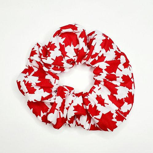 Canadian Red  Scrunchie