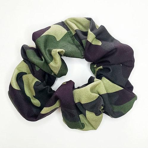Green Camo Scrunchie