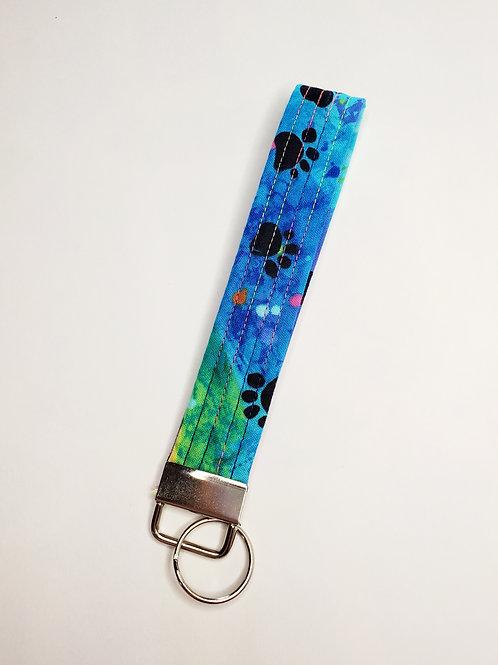 Tie Dye Pet Paws Key Fob