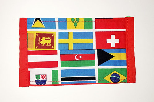 World Flags Face Mask