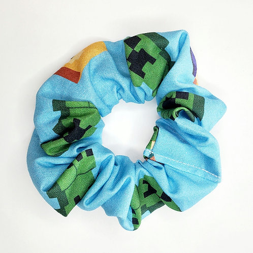 Minecraft Scrunchie  Blue