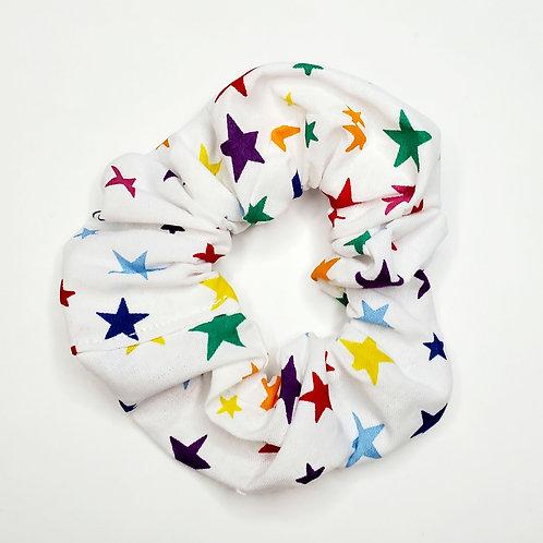 White Stars Scrunchie