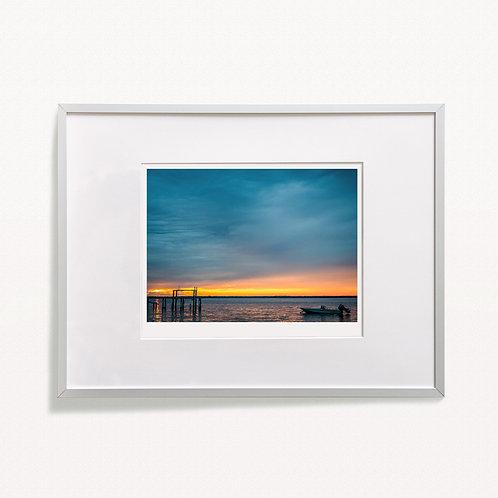 """Bay Boat Sunset"" Print"