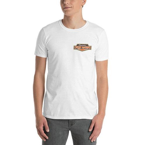 Blue Mustang (Back) Short-Sleeve Unisex T-Shirt