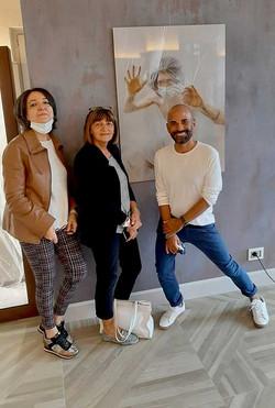 Giò Gagliano con Nadia Farinelli (Presidente Anffas Mortara) e Mara