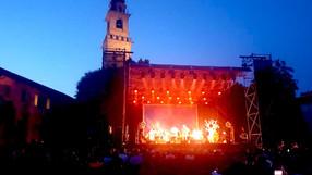 il palco e la torre del Bramante