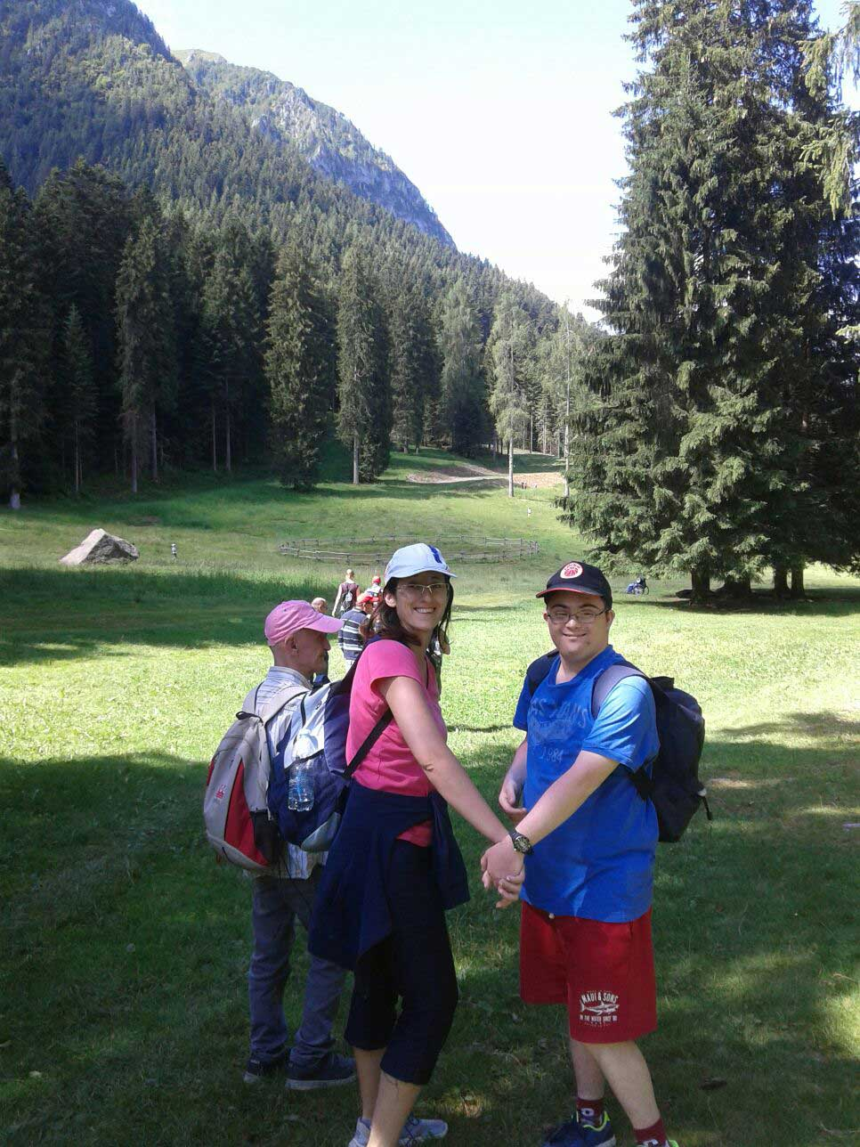 Stefano Cocino e Daniela in montagna