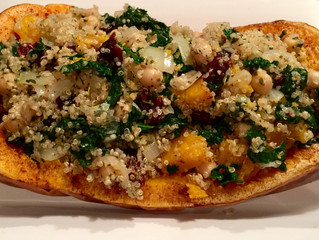 MISS PINK'S HOLIDAY STUFFED BUTTERNUT SQUASH