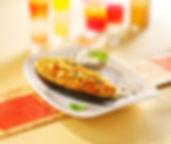 Gefüllte Auberginen besizten wenig Kalorien und machen schlank