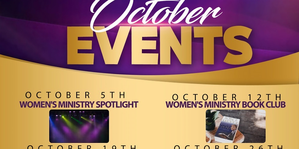 Women's Ministry October Events