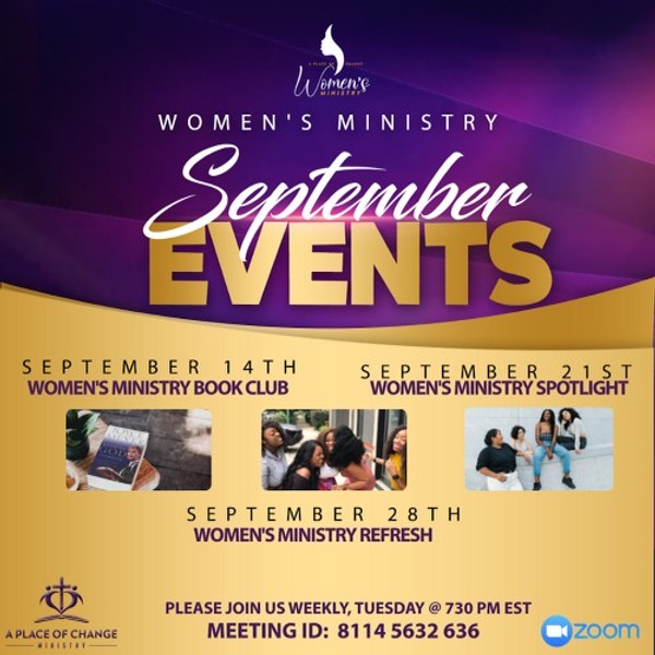 Women's Ministry September Events