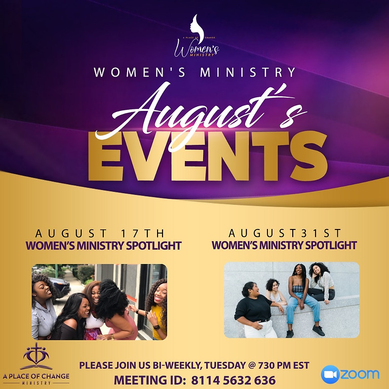 Women's Ministry August Events