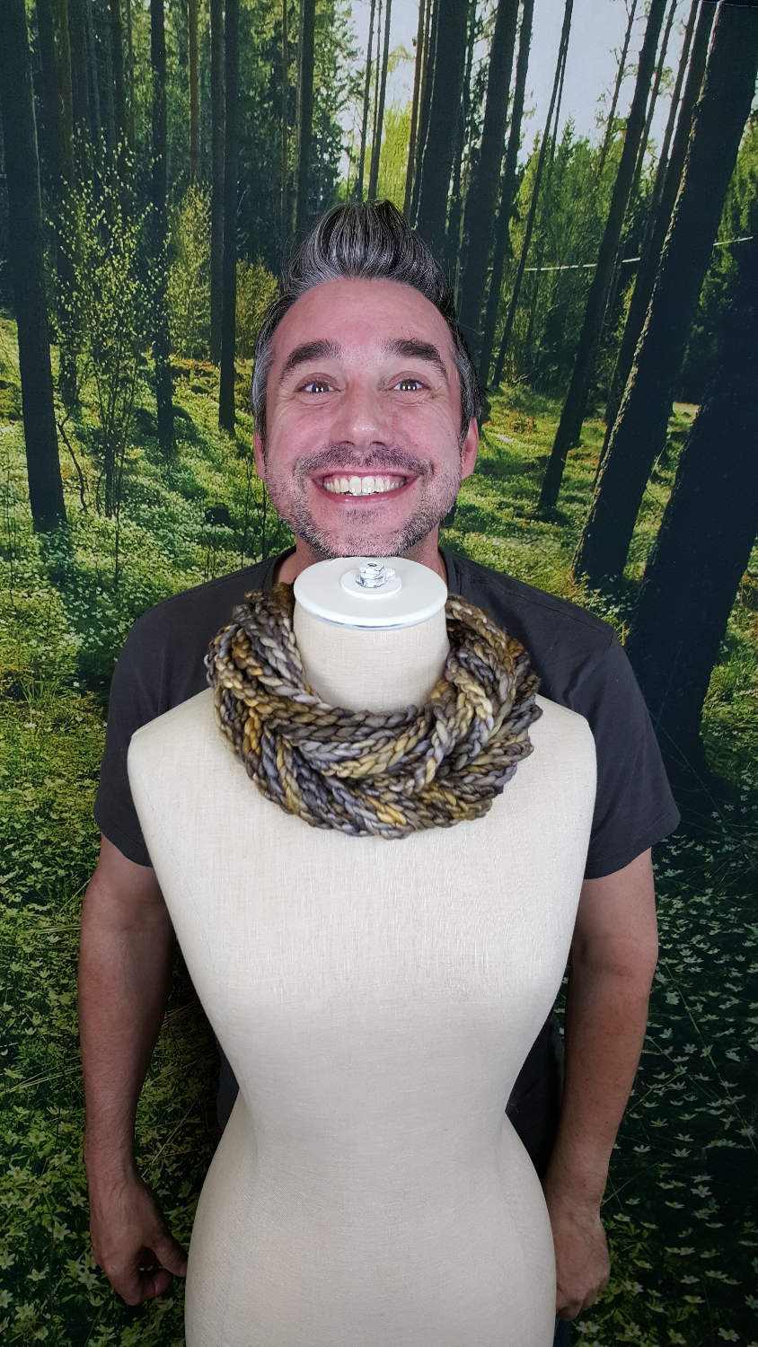 Dan and the Candlelight Loop Scarf