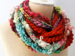 Cora's Rainbow Luxe Loop Scarf