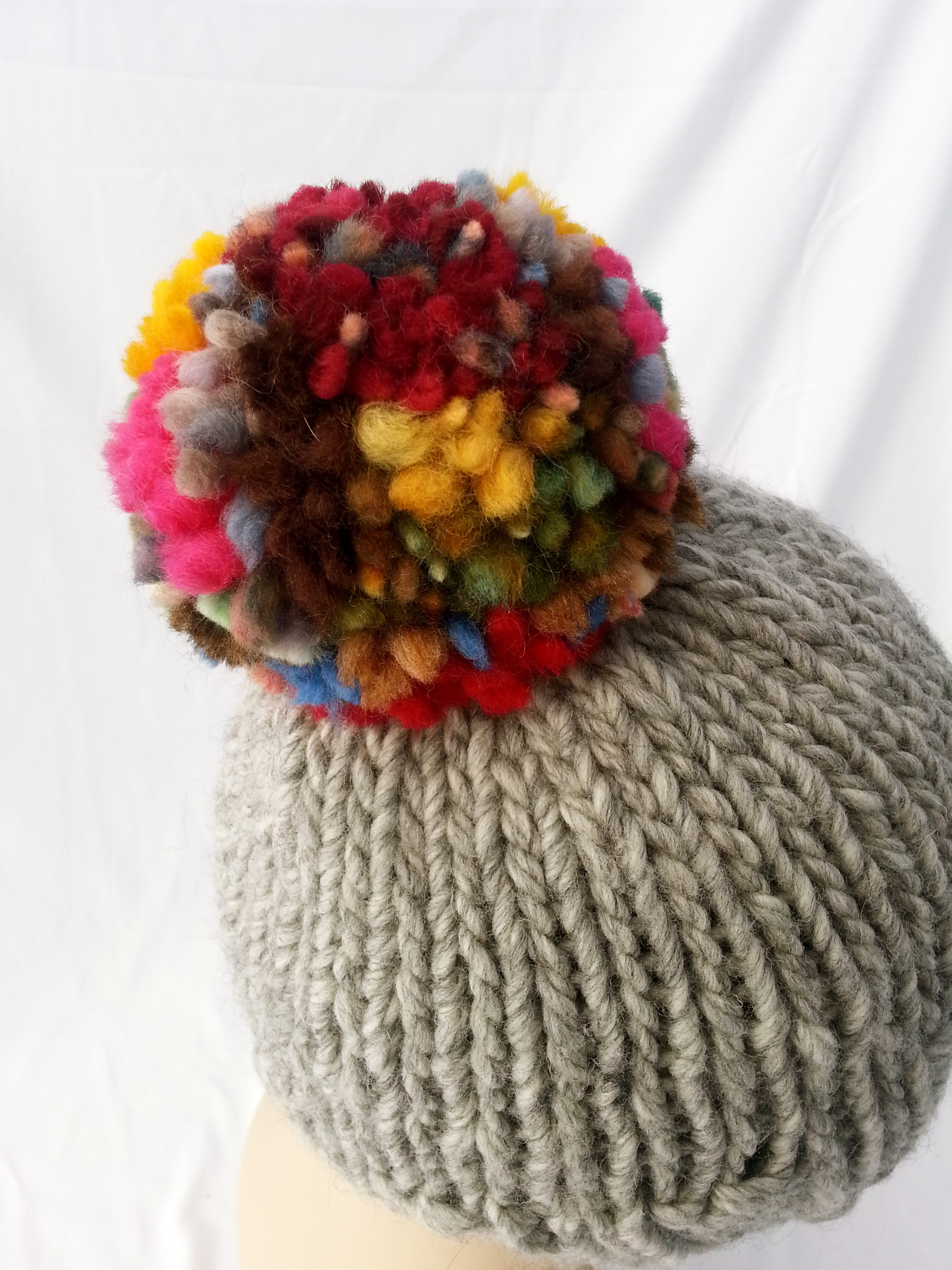 Pom Pom Happy Hat