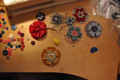 Gwynne's Upcycled Felt Flowers