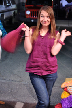 Karen's Berry Felt Bag and Bangle