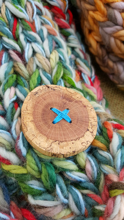 Big Beautiful Spalted Wood Buttons