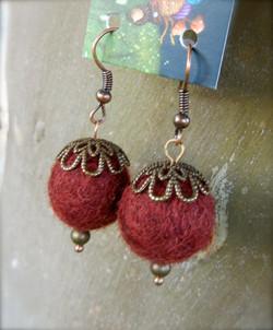 Cora's Felt Ball Earrings