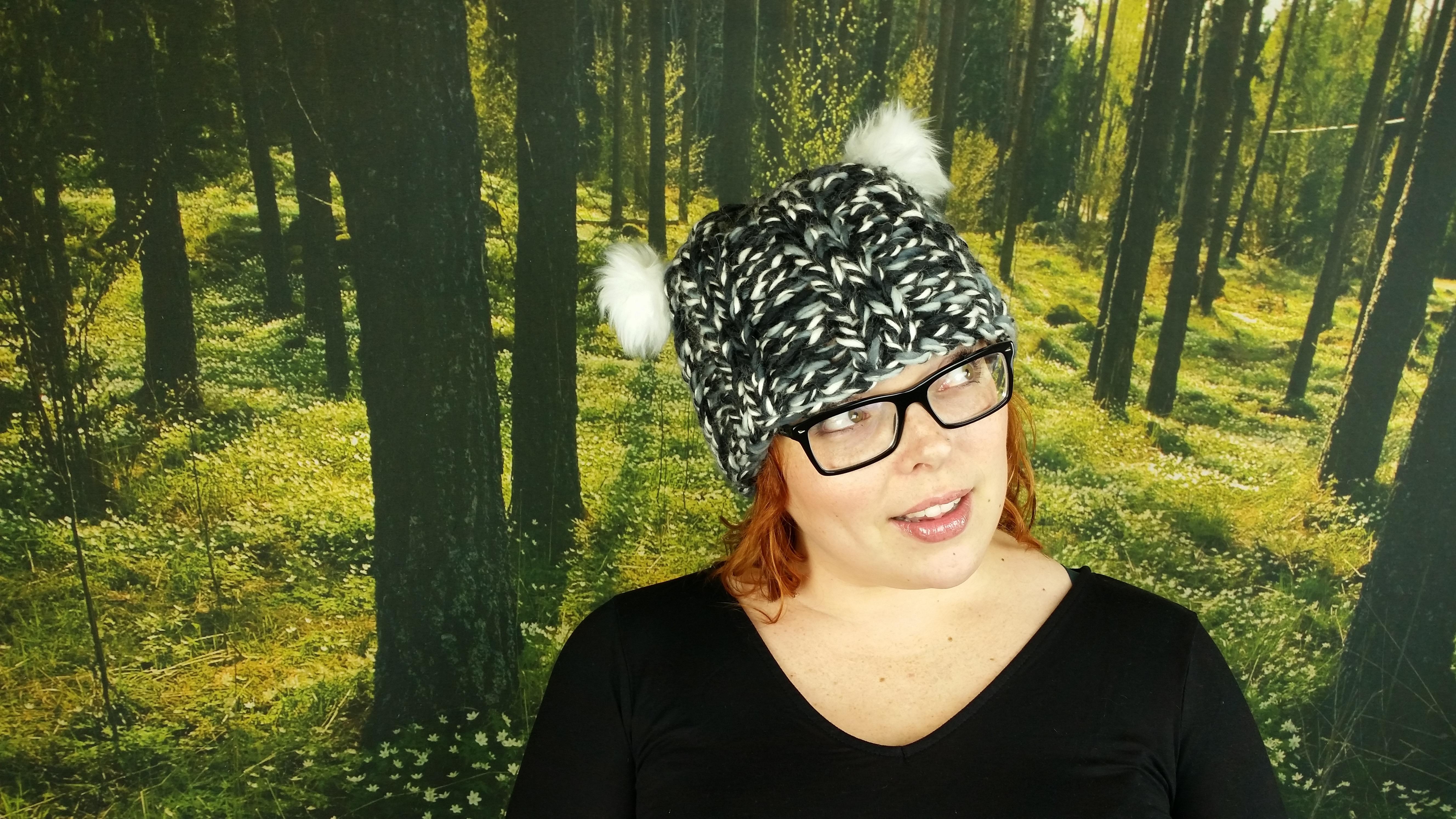 Cora's Fuzzy Bear Hat