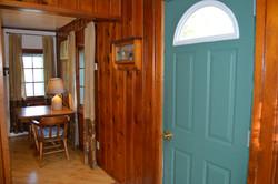 River Stone Cabin - Entry Door