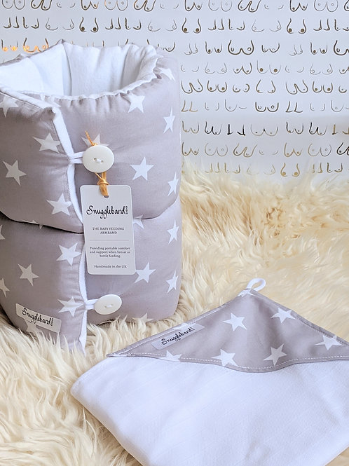 Snuggleband + SnuggleMuz grey stars gift set