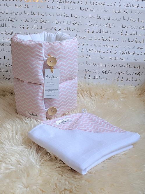 Snuggleband + SnuggleMuz pink chevron gift set