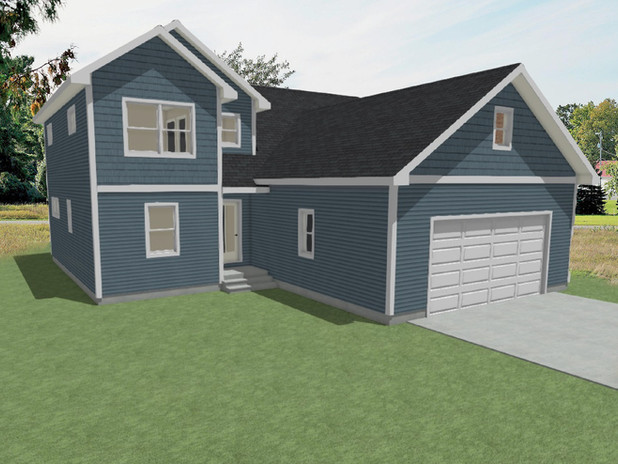 Heritage Farmhouse - First Floor Elevation 3D