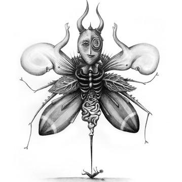 ANGEL OF DEATH  25x30,5cm - Charcoal drawing on paper.