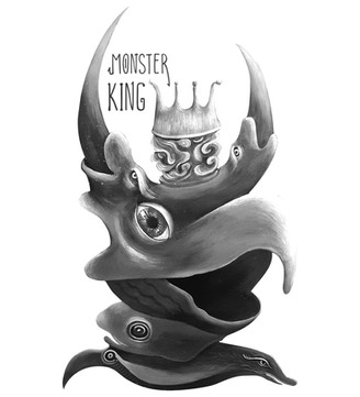 MONSTER KING from Phantasmagoria.  Acrylic Painting on Canvas
