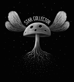 STAR COLLECTOR  Flying magic mushroom collecting stars to roots.