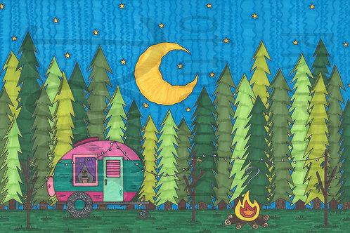 Happy Camper 17x11