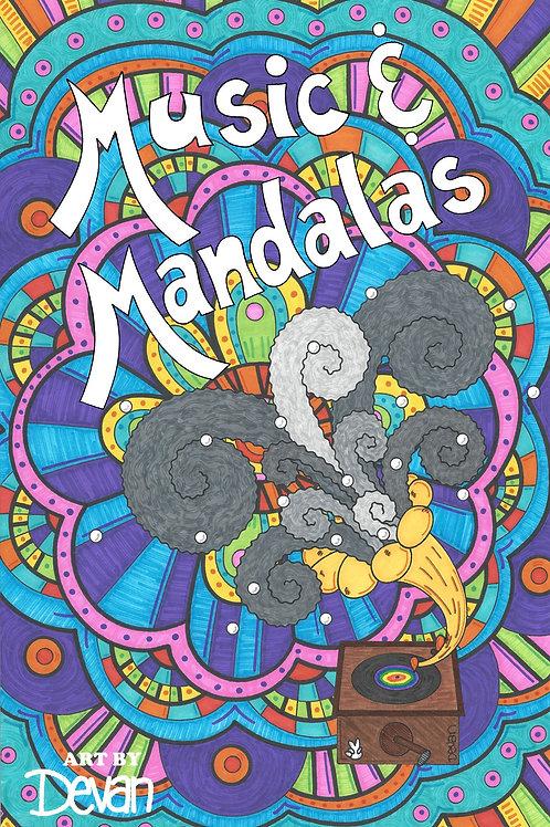 Music & Mandalas Coloring Book